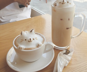 coffee, cat, and food image