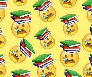 school, wallpaper, and emoji image