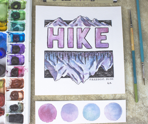 hike, hiking, and painting image