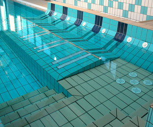pool, blue, and water image