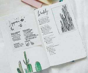 art, planner, and book image