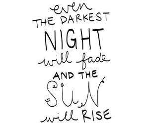 quote, sun, and dark image