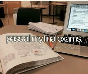goals, passing, and final exams image