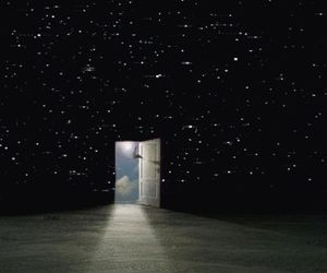 stars, gif, and door image