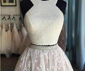 white homecoming dress, short prom dresses, and lace formal dress image