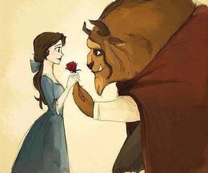 love, disney, and beast image