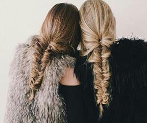 hair, friends, and braid image