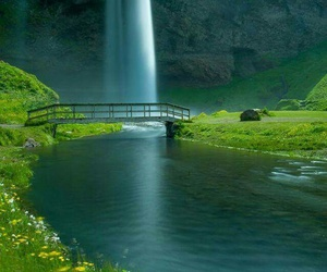 waterfall, nature, and iceland image