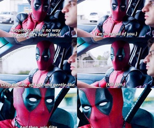deadpool, Marvel, and funny image