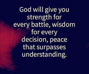 god, peace, and wisdom image