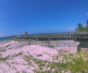 beach, pink, and varadero image