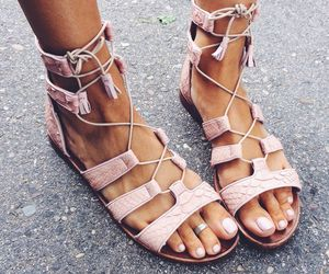 shoes, sandals, and pink image