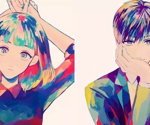 anime, colorful, and couples image