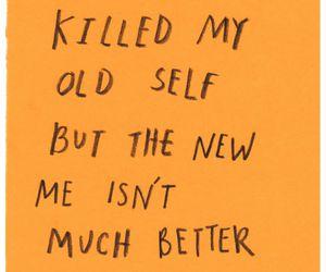 quotes, sad, and orange image