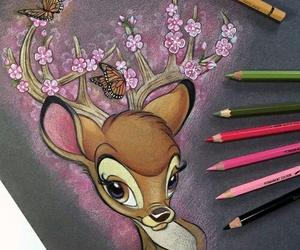 bambi, art, and disney image