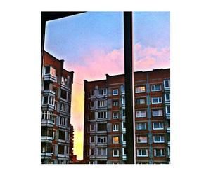 atardecer, edificios, and fondos image