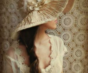 vintage, beauty, and lace image