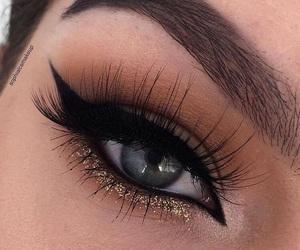 eye, eyeliner, and winged eyeliner image