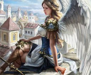 fantasy, angel, and art image