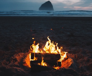 campfire, indie, and sea image