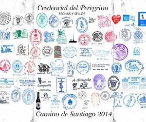 camino de santiago, god, and postcard image