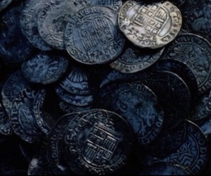 blue, coin, and dark image