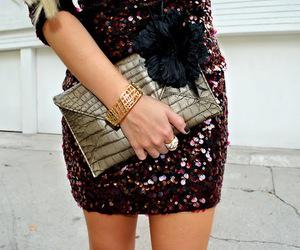 dress, glitter, and style image