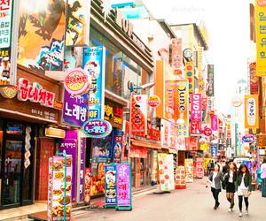 korea, street, and japan image