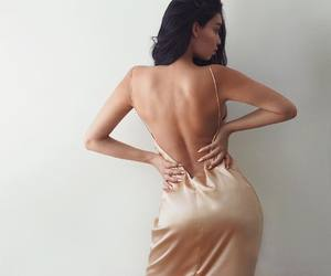 back, backless, and dress image