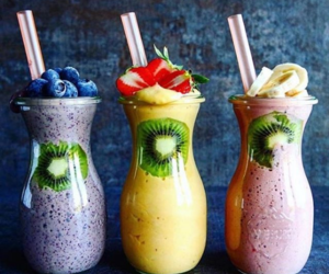 colors, drink, and smoothie image