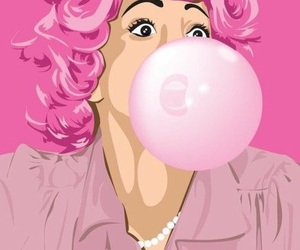 pink, grease, and art image