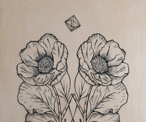 tattoo, art, and poppy image