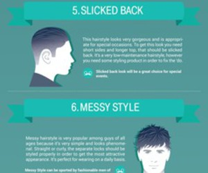 infographic, mens haircuts, and popular hairstyles image