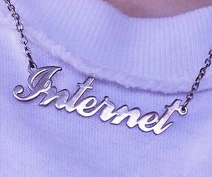 internet, grunge, and necklace image