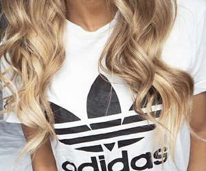 adidas, blonde, and fashion image