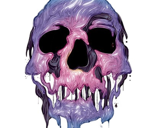 skull, art, and purple image