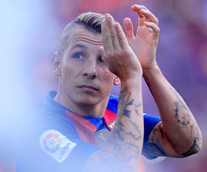 fc barcelona and lucas digne image