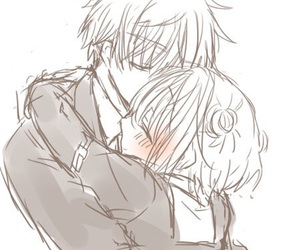 kiss, manga, and love image