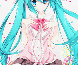 vocaloid, hatsune miku, and anime image