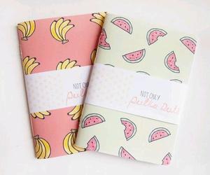notebook, banana, and FRUiTS image