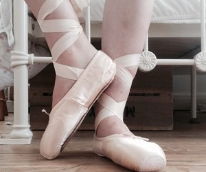 ballet dancer, pretty, and ballet shoes image