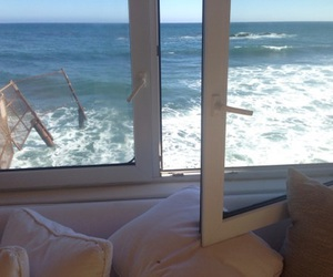 sea, beach, and window image
