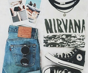 nirvana, outfit, and grunge image