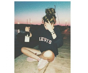 alcohol and levi's image