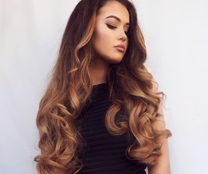 curly hair, extensions, and glam image