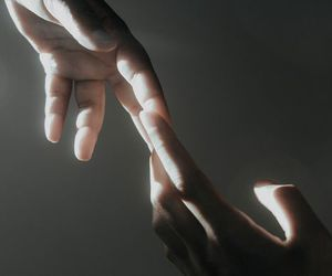 hands, shadow, and light image