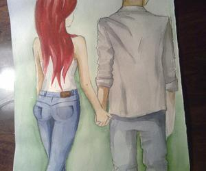art, boy and girl, and couple image