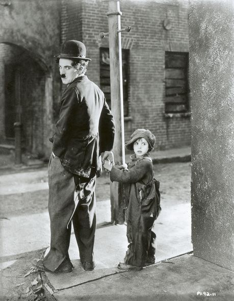 black and white, charlie chaplin, and the kid image