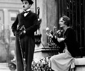 charlie chaplin, black and white, and charles chaplin image
