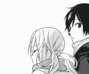 anime, beautiful, and black and white image